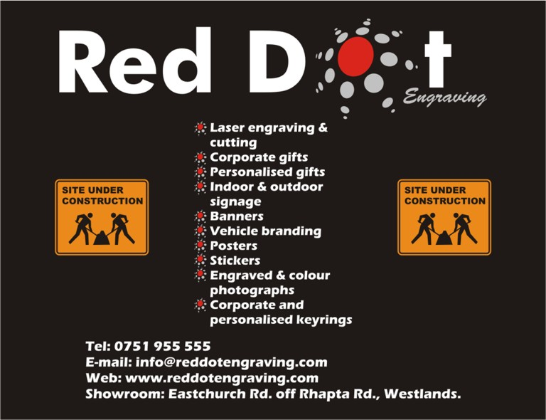 Red Dot Engraving :: Laser Engraving & Cutting, Corporate & Personalised Gifts, Signage, Banners, Vehicle Branding, Posters, Sticke